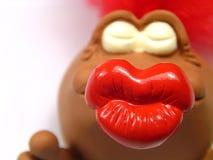 Big kiss!. Big kiss with white background Stock Image