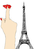 A big kiss from Paris Stock Images