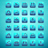 Big kit of buttons for the user interface and web design Royalty Free Stock Images