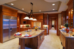 Big Kitchen. Large open kitchen in a luxury home Stock Image