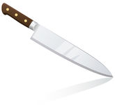 Big kitchen chef knife Royalty Free Stock Photography