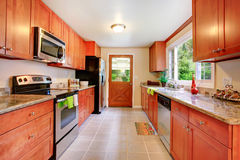 Big kitchen room in contryside house Royalty Free Stock Photos
