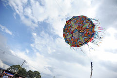 Big kite festival on the Day of the Dead in Sumpango, Sacatepequez, Guatemala Royalty Free Stock Image