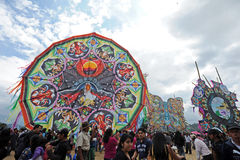 Big kite festival on the Day if the Dead, Sumpango, Sacatepequez, Guatemala Royalty Free Stock Image