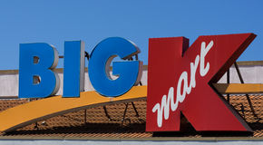 Big Kmart retail store exterior. ANAHEIM, CA/USA - OCTOBER 10, 2015: Big Kmart retail store exterior. Kmart is an American chain of discount department stores stock images