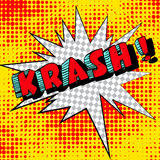 Big krash. Comic book explosion. Illustration Stock Image