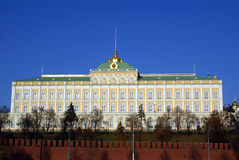 Big Kremlin Palace And Red Walls Royalty Free Stock Photo