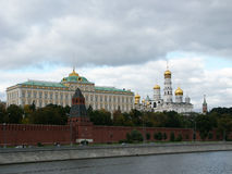 The big Kremlin palace. A kind from quay of the Moskva River Royalty Free Stock Photos