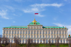 Big Kremlin palace in Moscow Stock Images