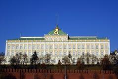 Big Kremlin palace and red walls Royalty Free Stock Photo