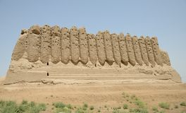 Big Kyz Kala fortress, Merv, Turkmenistan. Royalty Free Stock Photos