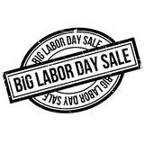 Big Labor Day Sale rubber stamp. Grunge design with dust scratches. Effects can be easily removed for a clean, crisp look. Color is easily changed Stock Images