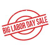 Big Labor Day Sale rubber stamp. Grunge design with dust scratches. Effects can be easily removed for a clean, crisp look. Color is easily changed Stock Photography