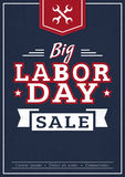 Big Labor Day sale. Vector banner. Royalty Free Stock Photo