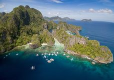 Big Lagoon in El Nido, Palawan, Philippines. Tour A route and Place. Miniloc Island. Big Lagoon in El Nido, Palawan, Philippines stock photos