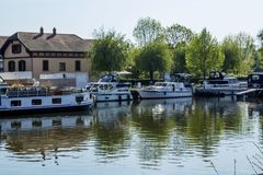 A big lake with boats in france