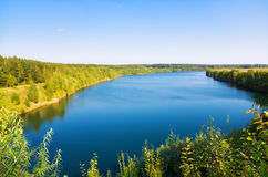 Big lake landscape Royalty Free Stock Photo