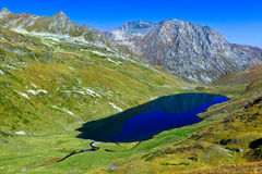 A big lake in the mountains of Caucasus Royalty Free Stock Photography