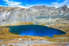 Big lake in the mountains Stock Photos