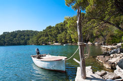 Big lake of national park on island Mljet Stock Image