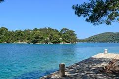 Big lake in National park, Mljet Royalty Free Stock Image