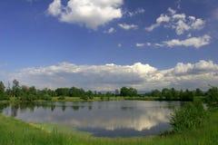 Big lake and sky Royalty Free Stock Image