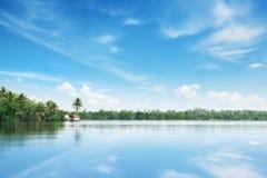 Big lake and sky Stock Photo