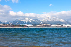 Big lake in winter time Stock Image