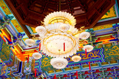 Big Lamp. In Chinese temple stock photos