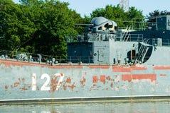 Big landing ship Minsk prepares for repair Stock Photography