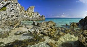 Big landscape of beach paradiso del sub  Zambrone (Vibo Valentia Royalty Free Stock Photo