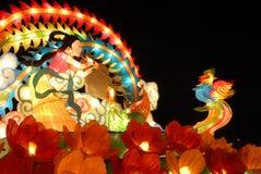 A big Lantern. Beautiful grand big Lantern at night, resplendent, diversified color in QingDao of China Stock Image