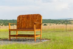 Big Large Giant Chair Outdoors Farmlands Royalty Free Stock Photos