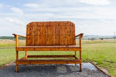 Big Large Giant Chair Outdoors Farmlands Stock Image