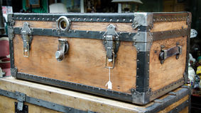 Big and large old wood case Royalty Free Stock Image