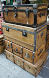 Big and large old wood cases Royalty Free Stock Photography