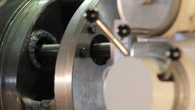 Big lathe. modern lathe. working modern lathe. working lathe with manual control. Big lathe. modern lathe. working modern lathe FullHD stock footage