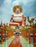 Big laughing Buddha statue. Wat Plai Laem, Samui, Thailand Royalty Free Stock Image