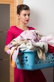 Big laundry basket Stock Photos