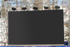 Big Lcd. Big Panel Lcd in outdoor Stock Images