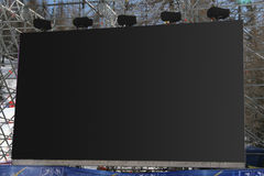 Big Lcd. Big Panel Lcd in outdoor Stock Image