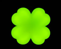 Big leaf clover on a black background.  stock photos