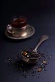 Big leaf tea strainer inside vintage ( spoon ) Stock Images