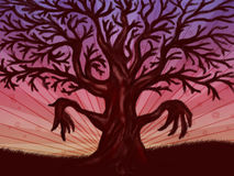 Big leafless tree Royalty Free Stock Images