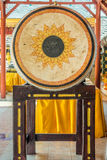 The big leather drum in a Thai Buddhist temple Stock Photo