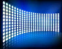 Big led projection screen. Vector illustration. Royalty Free Stock Images
