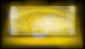 Big led projection screen. Vector illustration. Royalty Free Stock Image