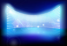 Big led screen. Vector illustration. Royalty Free Stock Images