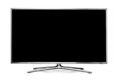 Big led tv isolated on white Stock Photos