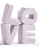 Big letters of love Royalty Free Stock Photo